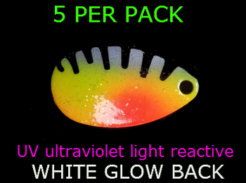 INDIANA blades #4 UV SILVER PERCH / GLOW