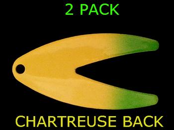DAKOTA blades #5 CHARTREUSE/GREEN SPLASH