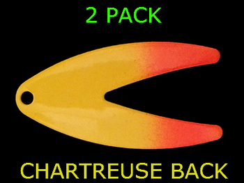 DAKOTA blades #5 CHARTREUSE/ORANGE SPLASH