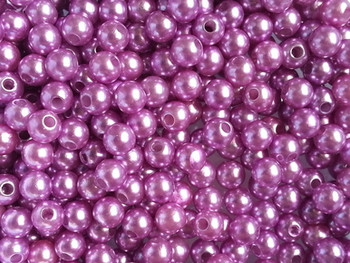 Pearlized Round 4mm OPAQUE LT. PURPLE 100/PK Fishing Beads