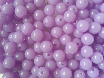 Round 8mm NEON LT. PURPLE 50/PK CRAFT Beads