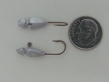ICE FISHING JIGS #6 BEE BUG UNPAINTED