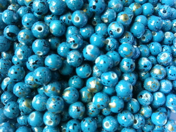 Round Fishing Beads 10mm TURQUOISE FROG CRAFT BEADS