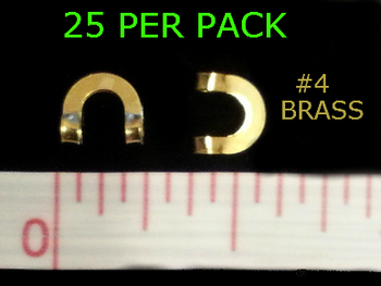 #4 BRASS folded CLEVISES