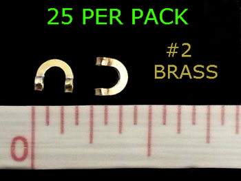 #2 BRASS folded CLEVISES