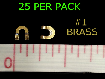 #1 BRASS folded CLEVISES