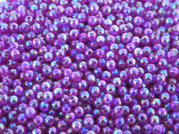 JT Custom Tackle 4mm Pearlized Trans. Purple fishing Beads 100/PK