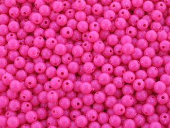 JT 4mm acrylic beads Opaque Pink 100/PK