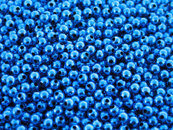 JT Custom Tackle 5mm Metallic Blue Beads 100/PK