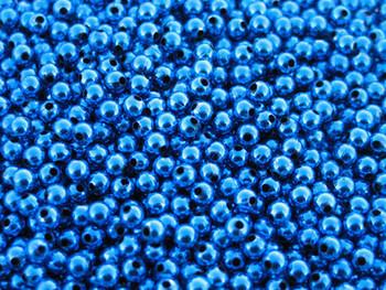 JT Custom Tackle 5mm Metallic Blue Beads 100/PK