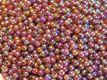 JT custom tackle 5mm Pearlized Trans. Brown fishing Beads 100/PK