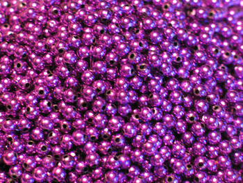 JT Custom Tackle 6mm Metallic Purple Beads 100/PK