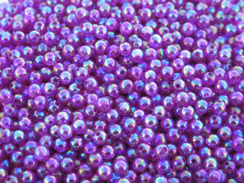 Fishing Lure Beads JT Custom Tackle 6mm Pearlized Trans. Purple Beads 100/PK