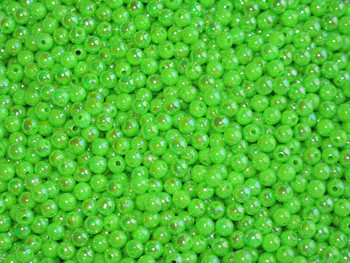 Fishing beads JT Custom Tackle 6mm Pearlized Neon Green Beads 100/PK
