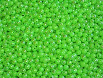 Fishing beads JT Custom Tackle 6mm Pearlized Neon Green Beads 100/PK
