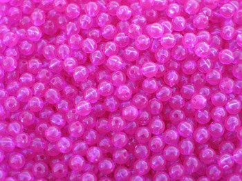 JT Custom Tackle 6mm Trans. Fuchsia Beads 100/PK