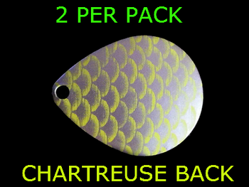 COLORADO SPINNER blades # 5 CHARTREUSE SILVER SCALE