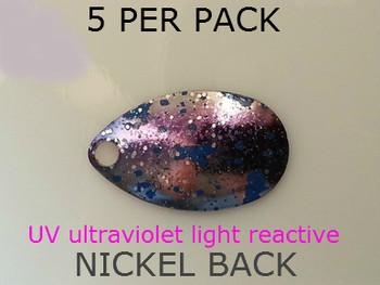 INDIANA blades #3 UV BLUE NICKEL