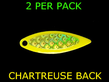 WILLOWLEAF spinner blades #3 CHARTREUSE CHARTREUSE TAPE