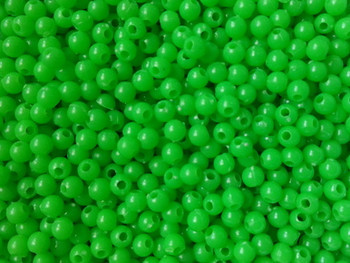 Fishing Beads Round 4mm OP. GREEN 100/PK