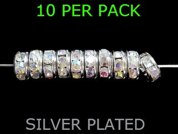 Wedding Ring Lure Beads 10mm SILVER/ ARORA BORELIS