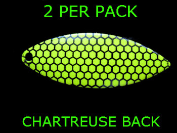 #5 WILLOWLEAF blade CHARTREUSE BLACK SCALE