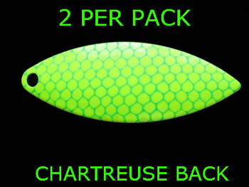 #6 WILLOWLEAF blade CHARTREUSE GREEN SCALE