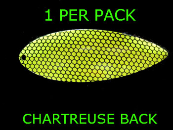 #8 WILLOWLEAF blade CHARTREUSE BLACK STRIPE