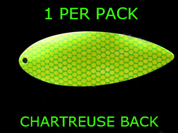 #8 WILLOWLEAF blade CHARTREUSE GREEN SCALE