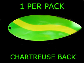#8 WILLOWLEAF blade GREEN CHARTREUSE STRIPE