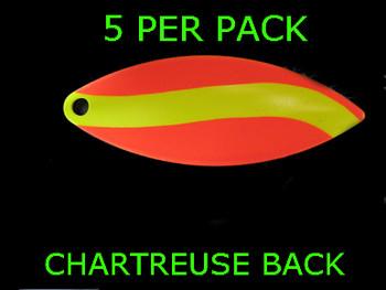 #6 WILLOWLEAF blade ORANGE CHARTREUSE STRIPE