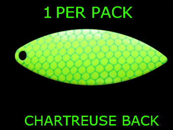 #7 WILLOWLEAF blade CHARTREUSE GREEN SCALE