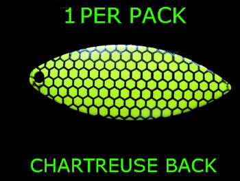 #7 WILLOWLEAF blade CHARTREUSE BLACK SCALE