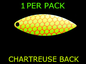 #7 WILLOWLEAF blade CHARTREUSE ORANGE SCALE