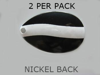 INDIANA BLADES size 7 BLACKWHITE STRIPE