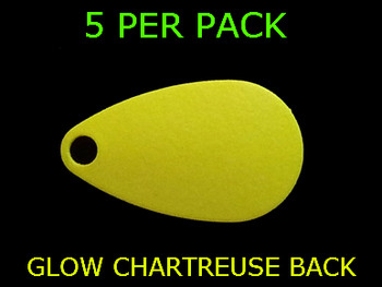 INDIANA SPINNER blades # 2 CHARTREUSE GLOW