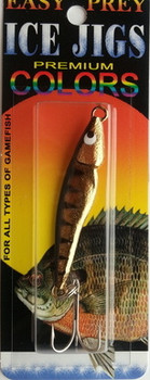 "1/2 oz JIGGING SPOON "" GOLD PERCH "" / EASY PREY LURES"
