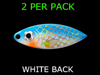willowleaf BAITFISH PRISM WHITE/BLUE spinner blades #3 1/2