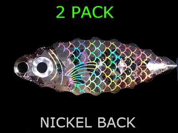 SERRATED WILLOW BLADES #4 NICKEL BAITFISH PRISM