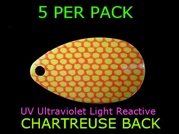 indiana blades #4 UV CHARTREUSE ORANGE SCALE