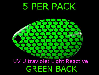 indiana blades #2 UV GREEN BLACK SCALE