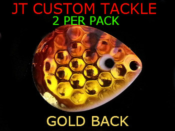 JT Custom Tackle Spinner Blades COLORADO #3 BABY WALLEYE (102) lure making supplies for spinner rigs.