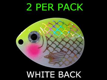 COLORADO blades # 4.5 BAITFISH PRISM WHITE/CHART