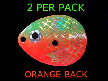 COLORADO blades # 4.5 BAITFISH PRISM ORANGE/GREEN