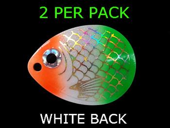 COLORADO blades # 4.5 BAITFISH PRISM ORG/WHITE/GREEN