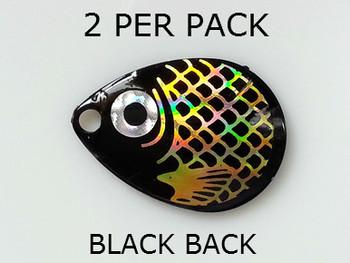 COLORADO blades # 3 BAITFISH PRISM BLACK