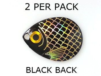 COLORADO blades # 4 BAITFISH PRISM BLACK