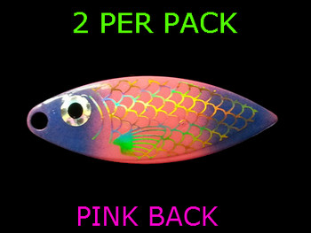 willowleaf BAITFISH PRISM PINK/PURPLE spinner blades #4