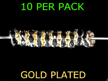 Wedding Ring Lure Beads 6mm GOLD/BLACK