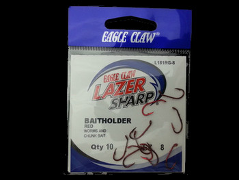 EAGLE CLAW L181R LAZER BAITHOLDER HOOKS  great for huge walleye, Lindy rigs walleye harnesses snells